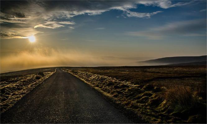 Dawn at Tan Hill - Chris Poole