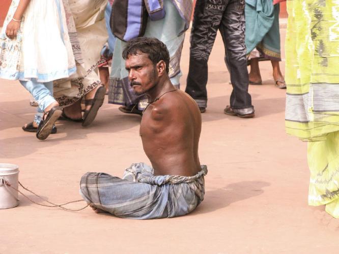 Beggar At Ganga Sagar Mela-India - Amit Roy