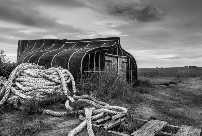 Lindisfarne Herring Boat Shed - Jan Cross