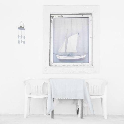 Two Boats & Two Chairs - Chrissie Hart