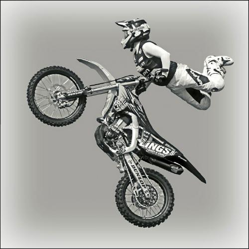 Gymnastics with a Motorcycle - Tony Argent
