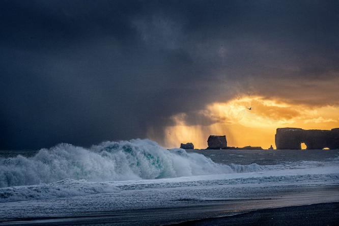 Stormy Sunset at Dyrholaey - Colin Westgate
