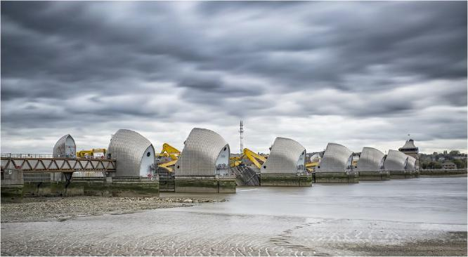 A Grey Day at The Thames Barrier - David Egerton