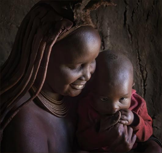 Himba Mum and Baby Boy - Kate Jackson