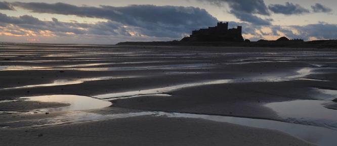 Dawn over Bamburgh - Alison Scott