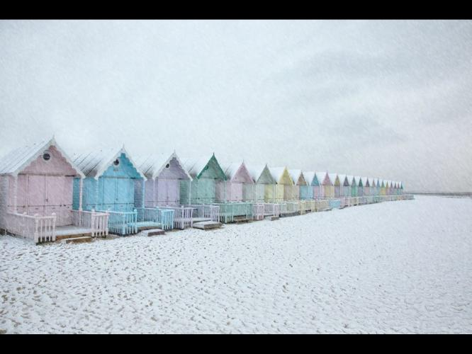 Seaview in the Snow - Chris Aldred