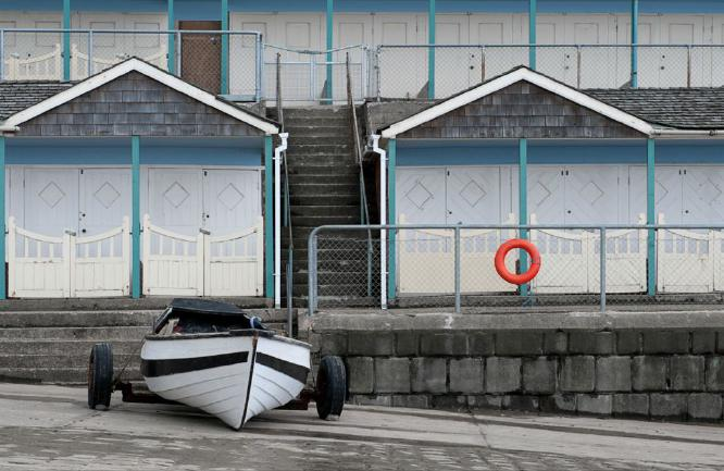 BEACH HUTS BOAT and BOUY - Chrissie Hart