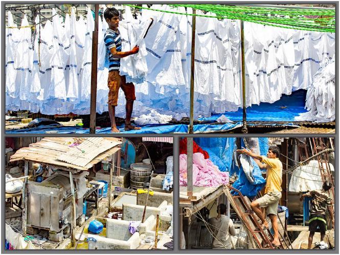 Dhobi Ghat Mumbais open air laundromat - David Egerton