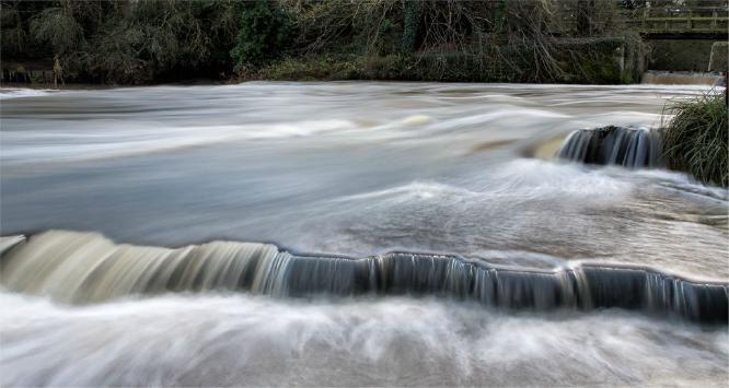 Beeleigh Falls Maldon in full flood - Derek Howes