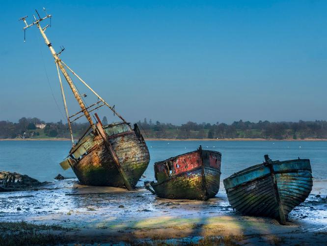 Pin Mill Boat Graveyard - Jan Cross
