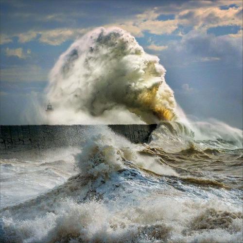 Storm Ciara at Newhaven - Kate Jackson