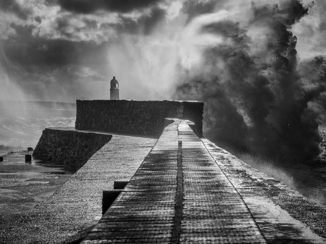 Storm Jorge from Porthcawl - Kate Jackson