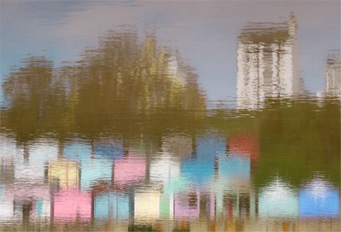 Reflection from a Pool on the Beach - Martin Leech