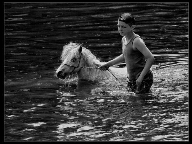 Gypsy Boy with Pony - Rodney Woods