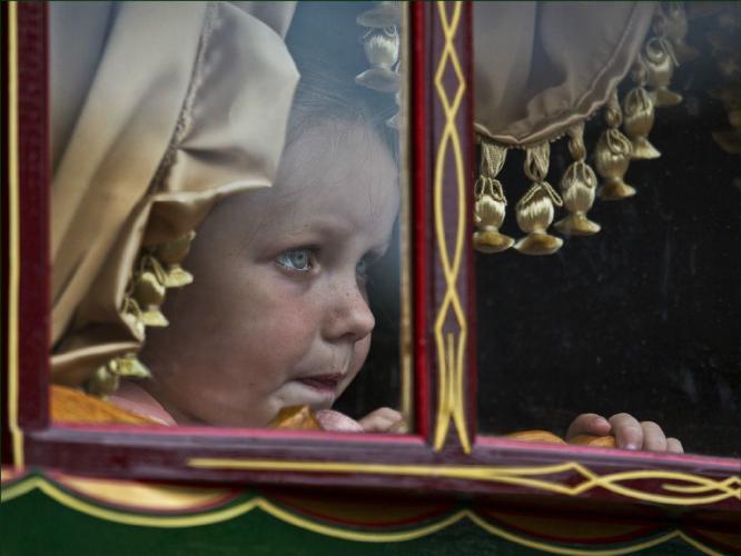 Gypsy Girl in Caravan - Rodney Woods