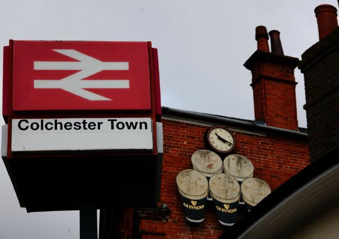 Colchester Town Station with a Pint of Guinness - Steve Robinson