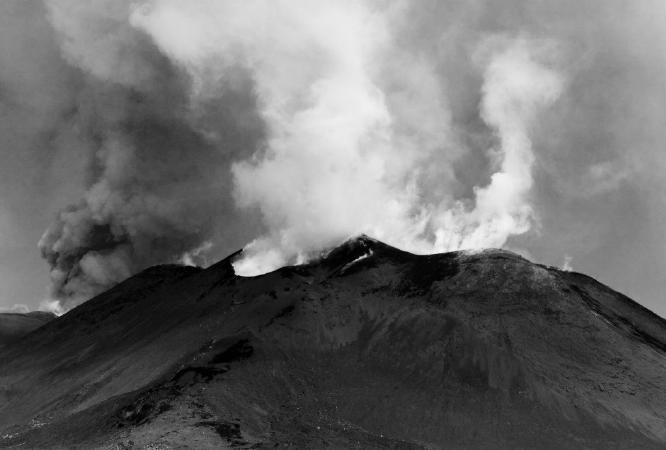 Etna Smoking and Erupting - Steve Robinson