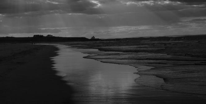 Evening Sunbeams at Bamburgh - Steve Robinson