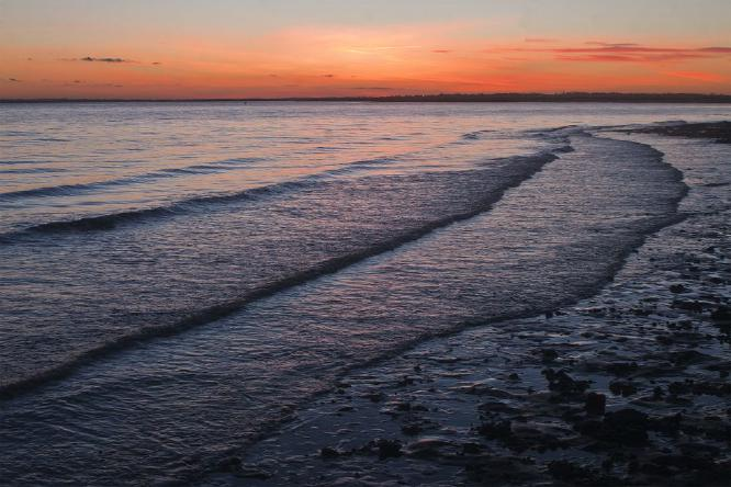 Gentle Waves at Sunset - Steve Robinson