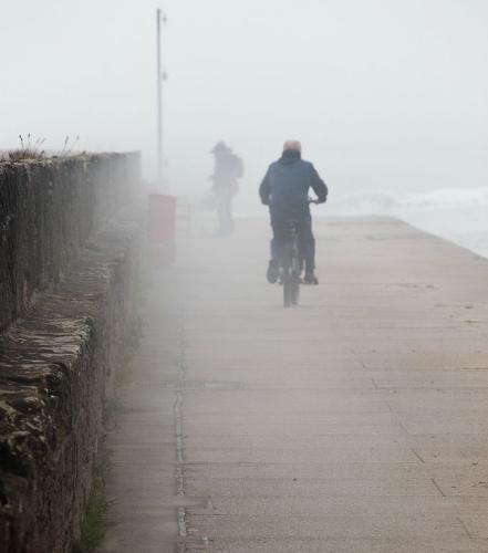 On Berwick Pier in the Mist - Steve Robinson
