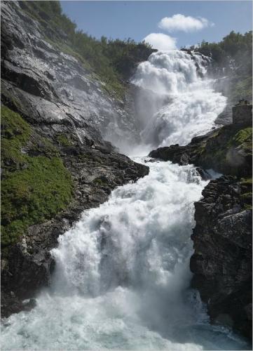 Kjosfossen Waterfall Norway - Vic Hainsworth