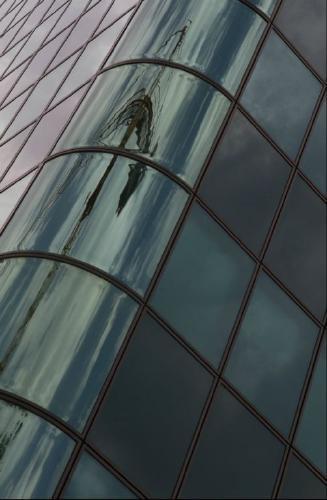 Reflection of Crane - Vic Hainsworth